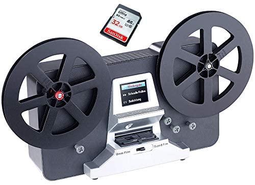Somikon Scanner pellicole Super 8 – Normal 8, con scheda SD da 32 GB e istruzioni video Scanexpert