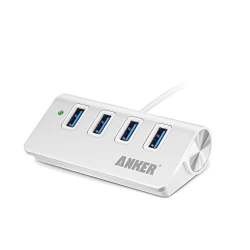 Anker® Hub USB Portatile in Alluminio 4-Porte USB 3.0 con Cavo di 60 cm USB 3.0