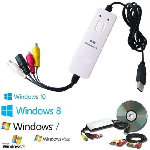 Ottimo per passare riversare le tue vecchie VHS, Video 8 in DVD Per acquisire e registrare da Telecamere DVD VHS Decoder su DVD Video Tutorial su Youtube per installazione e configurazione / Supporto Telefonico se richiesto Software di Acquisizione e Video Editing in ITALIANO Compatibile con Windows 10, 8, 8.1, 7, XP e Vista